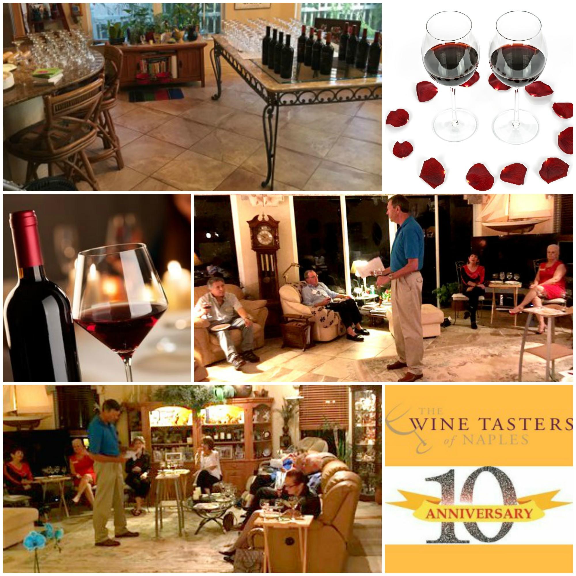 Wine Tasters of Naples red wine tasting event