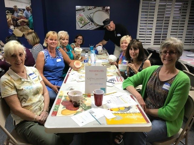 Wine Tasters of Naples painting bowls for Empty Bowls