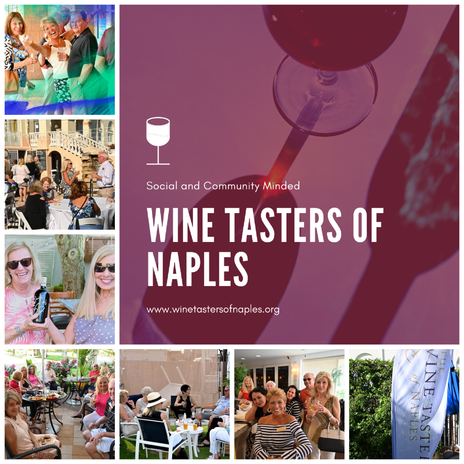Wine Tasters collage